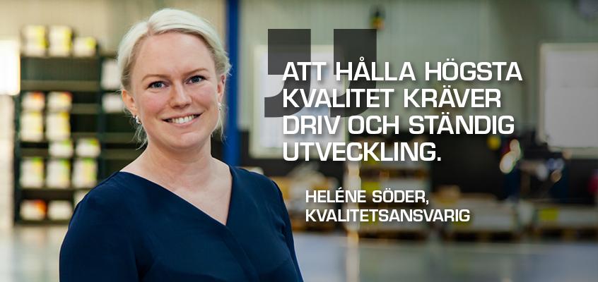 Helene arbetar på Tooltec